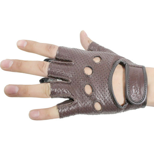 Mash leather half glove/LGH-1 BR
