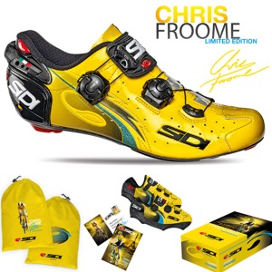 SIDI 자전거신발 로드 시디 WIRE CARBON FROOME LIMITTED EDITION Yellow (ROAD )+슈스카바+시티BAG