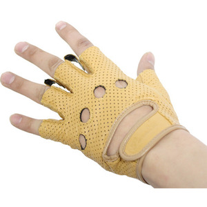 [가죽 반장갑] Mash leather half glove/LGH-1 CA